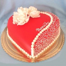 Anniversary Cake Red Heart