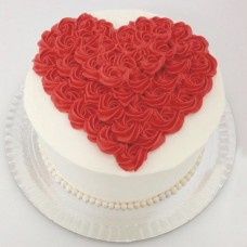 Anniversary Cake Red White