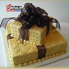ANNIVERSARY SQUARE TWO TIERS