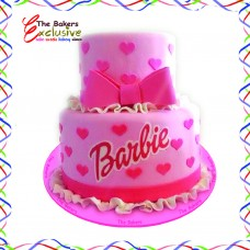 BARBIE TWO TIERS CAKES