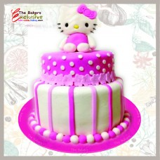 HELLO KITTY TWO TIERS CAKES