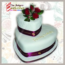 WEDDING CAKES TWO TIERS HEART SHAPE