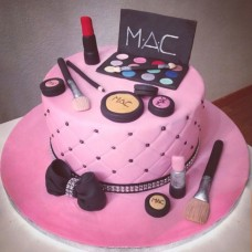 Makeup Themed Cake-06